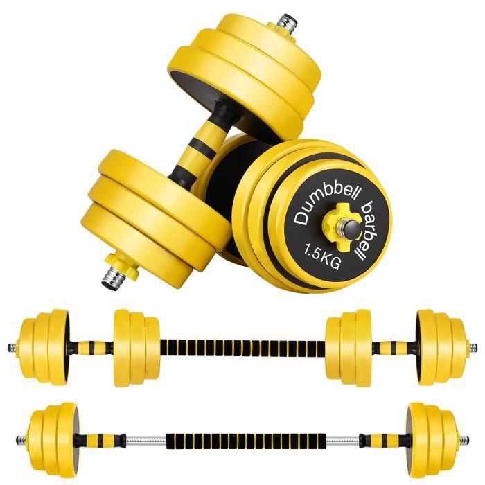 Lot d'haltères 25 kg musculation réglables – poids musculation