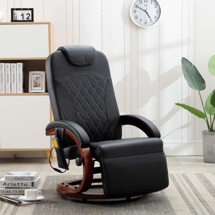 Fauteuil de relaxation grand confortFauteuil de massage sofa relax Relaxation Massage-Chaises TV Noir Similicuir