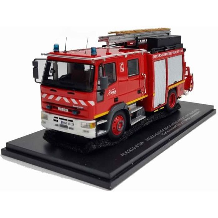 Camion Pompiers EUROCARGO FPTMO Fourgon Pompe Tonne Mousse SIDES SDIS 28 CHATEAUDUN 1/43 Série Limitée 200 pcs