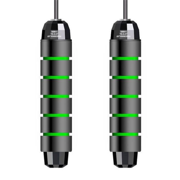 Accessoires Fitness - Musculation,Enfant adulte intérieur corde à sauter saut exercice vitesse corde à sauter - Type black red