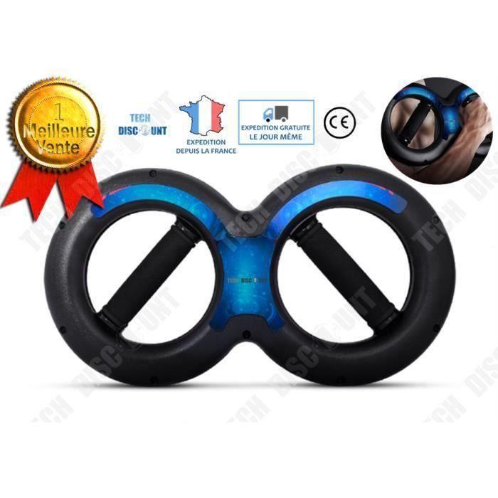 TD Force de bras force du poignet en forme de 8 fitness sport poids musculation anneau puissance 15 kg équipement sportif beau corp