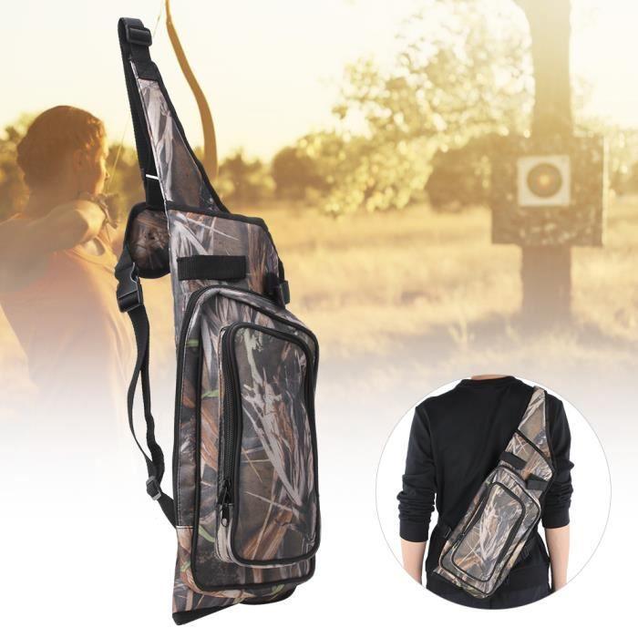 Reed Camouflage Outdoor Portable Messenger Tir à l'arc Carquois Sac Flèche Arc Titulaire Pochette pour la Chasse-CHD
