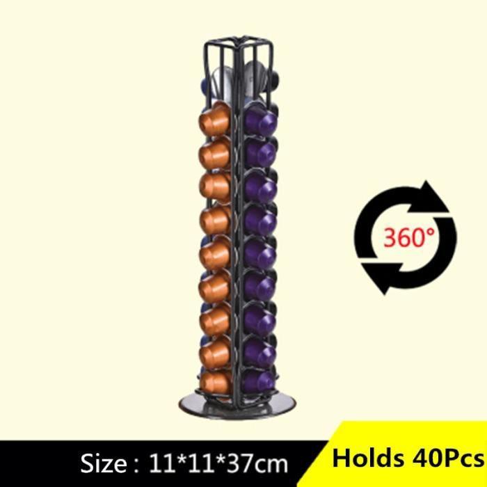 Tasse à café,Support de Capsules de café Nespresso 40 tasses, support rotatif, étagère de rangement, support - Type 1 #A