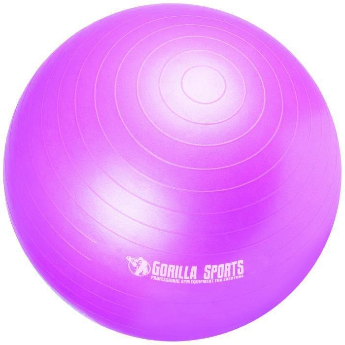 Ballon de gymnastique de couleur violet mat - Taille : 65 cm