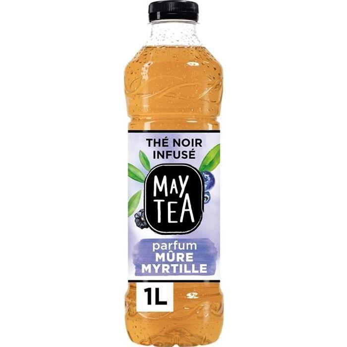 LOT DE 2 - MAY TEA : Thé noir - Thé glacé infusée à la mûre et myrtille 1 L