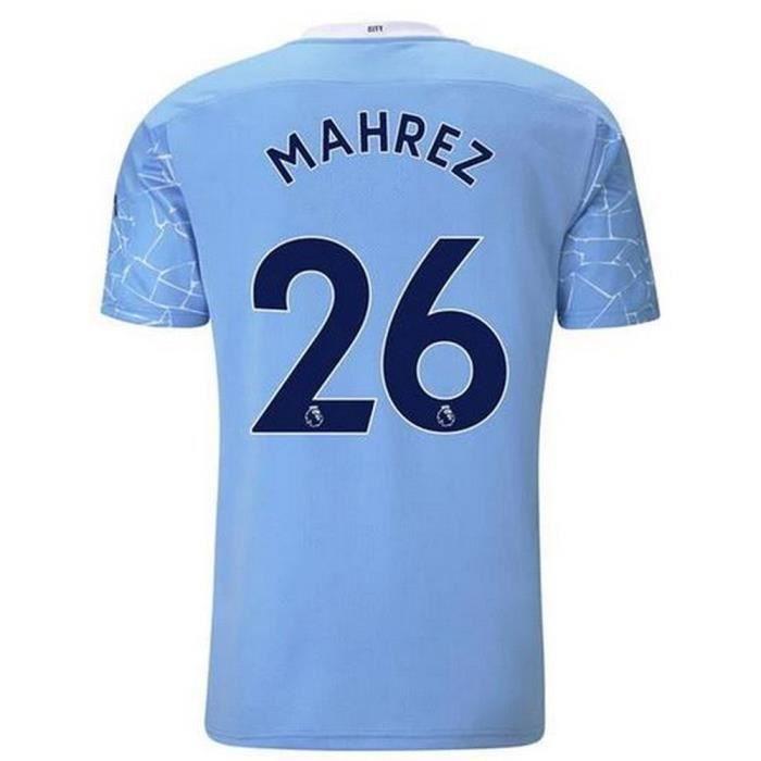 Nouveau Maillot Puma Homme Manchester City Domicile Flocage Officiel Marhez Numéro 26 Saison 2020-2021