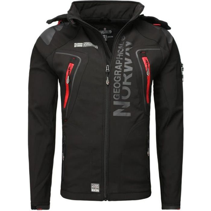 Veste softshell Geographical Norway Veste Techno noir S