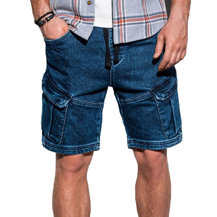 Short jean fashion homme Short W220 bleu