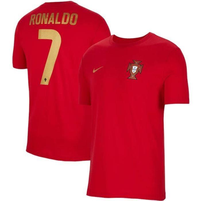 Nouveau Maillot de Foot Portugal Cristiano Ronaldo 7 Domicile Euro 20-21 Pas Cher Homme
