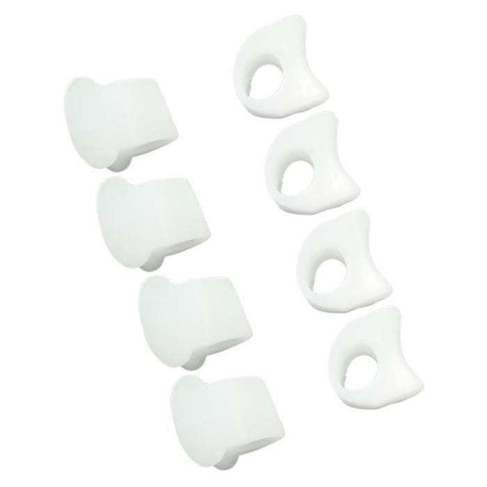 4 paire de SEBS Hallux Valgus correcteur séparateurs de petit orteil accolades outils de pédicure (orteil séparateur de pour