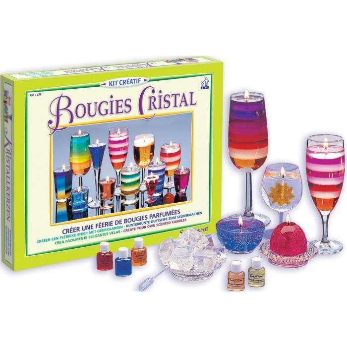 SENTOSPHERE Kit De bougies Cristal