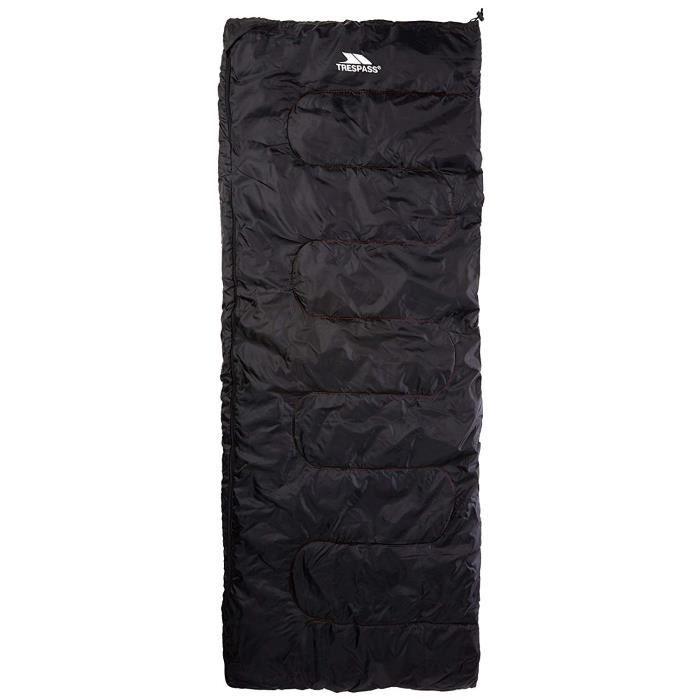 TRESPASS Sac de couchage Envelop - 3 saisons - Noir