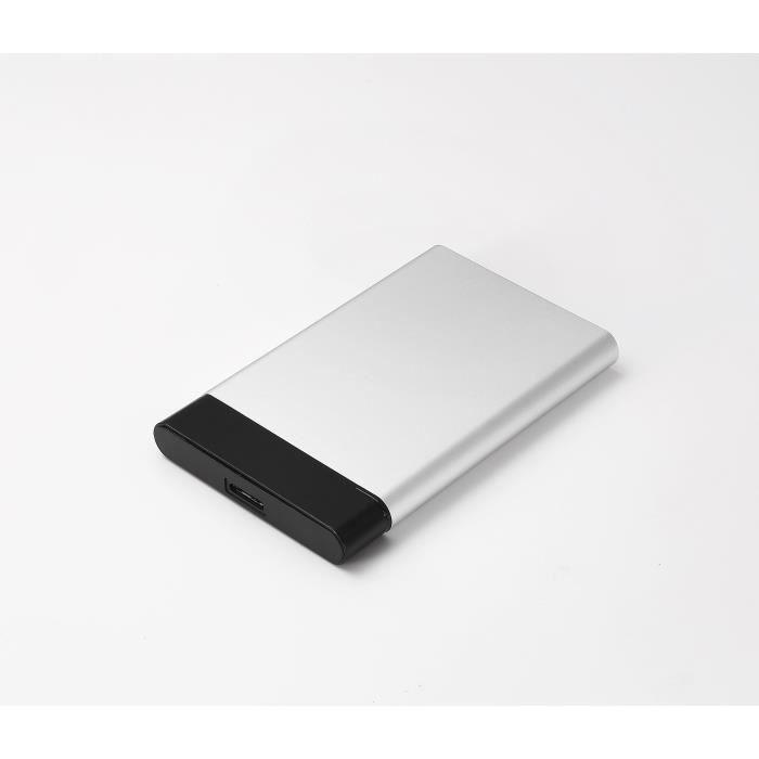 WE Boitier externe 2.5- pour DD ou SSD SATA, sortie USB 3.0 bi-color argent+noir