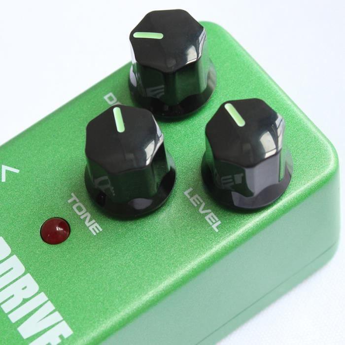 1 Pc guitare effet pédale Vintage surcharge Overdrive vert d'effet Instrument de musique basse PEDALE D'EFFETS