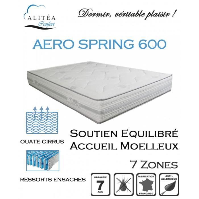 alitea matelas aero spring 600 80x190 ressorts achat vente matelas cdiscount. Black Bedroom Furniture Sets. Home Design Ideas