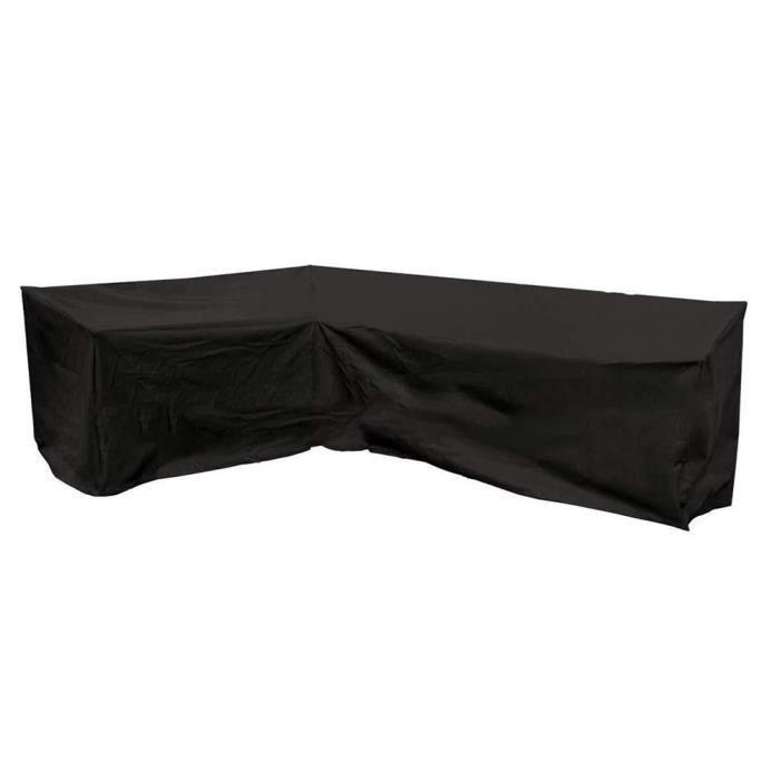 Couverture de Protection de Meubles Ext/érieur Imperm/éable 420D Oxford Bache Salon Jardin Protege Meubles Noir,215x215x87cm Housse de Canap/é dangle en Forme Jardin de V