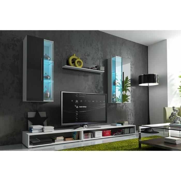 mur tv complet ref epsilon achat vente living meuble tv mur tv complet ref epsilon cdiscount. Black Bedroom Furniture Sets. Home Design Ideas
