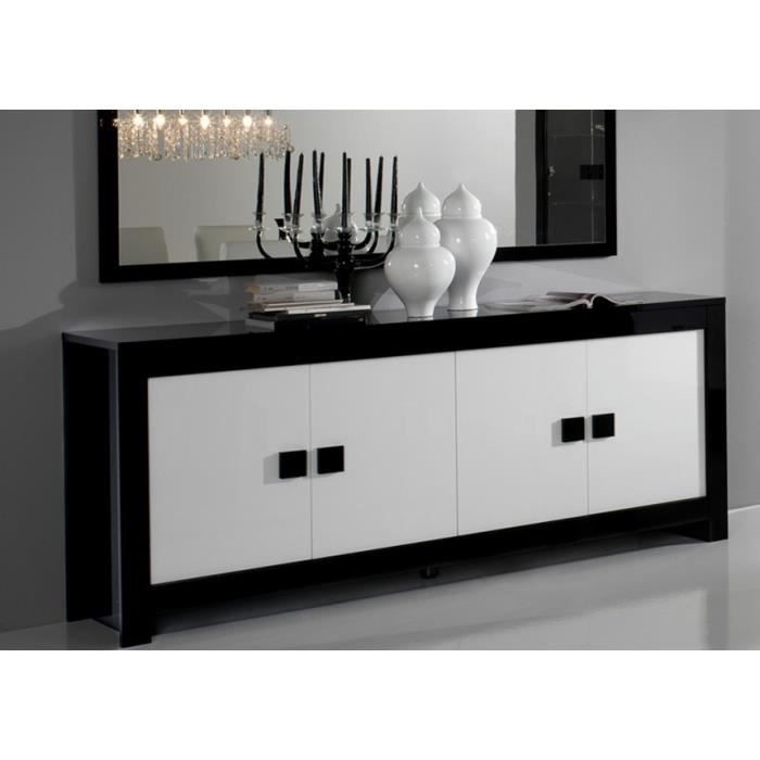 buffet laqu pisi noir et blanc achat vente buffet bahut buffet laqu pisi noir et b. Black Bedroom Furniture Sets. Home Design Ideas