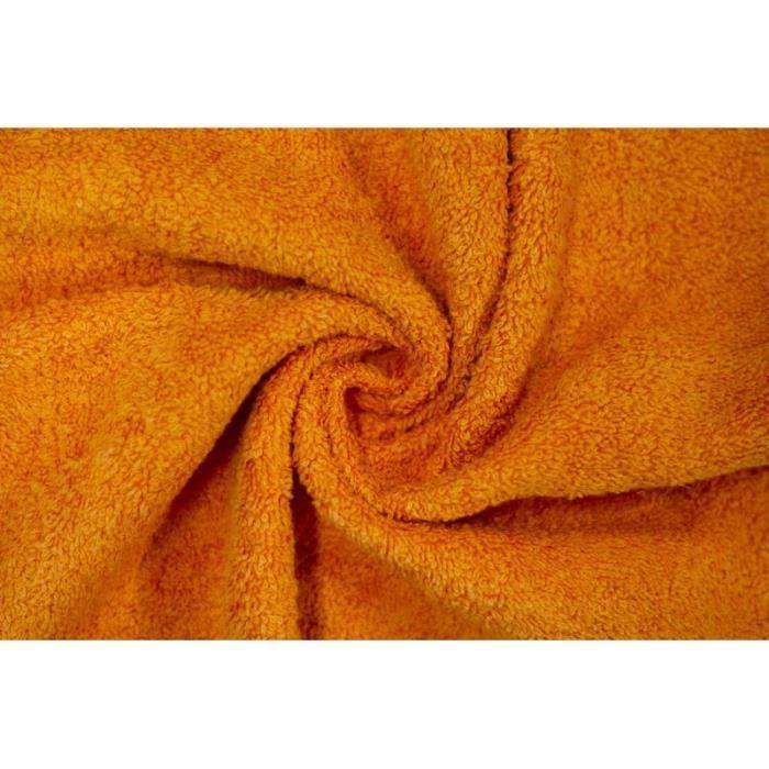 TISSU Tissu Éponge Bulky Orange -Au Mètre