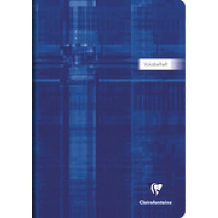 Landr/é Lot de 10 cahiers de vocabulaire recycl/és A5 32 feuilles Bleu