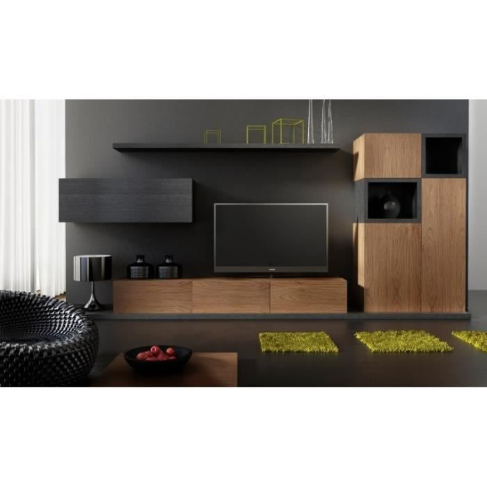 ensemble meuble tv design buffet notte avec etagere et meuble horizontal chene avec chene. Black Bedroom Furniture Sets. Home Design Ideas