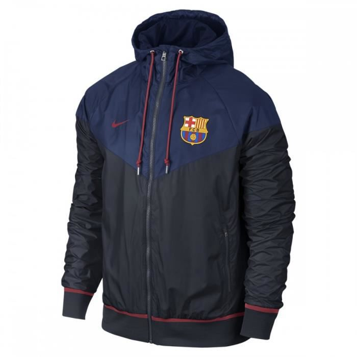 veste coupe vent nike fc barcelona authentic windrunner 689949 421 bleu achat vente poncho. Black Bedroom Furniture Sets. Home Design Ideas