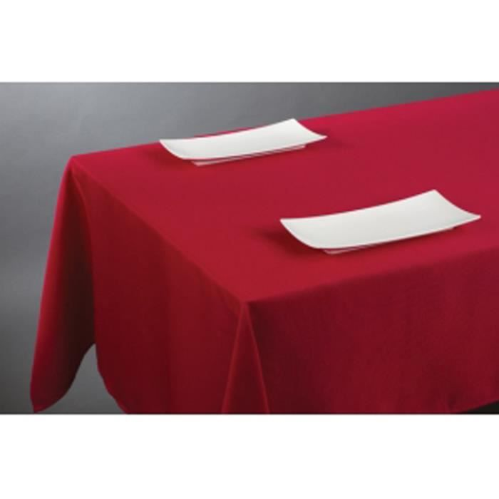 Nappe carr e en rouge 150 x 150 cm achat vente nappe for Table carree 150 x 150