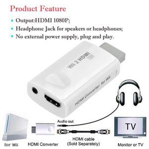 ADAPTATEUR MANETTE Full HD HDMI Adaptateur de convertisseur 1080P ave