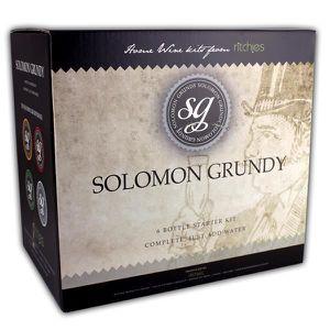 VIN BLANC Solomon Grundy Chardonnay Bouteille 6 Kit de démar