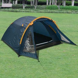 TENTE DE CAMPING Camping Tente 3 personnes Bleu