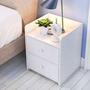 CHEVET Table de chevet blanche avec 2 tiroirs Table de nu