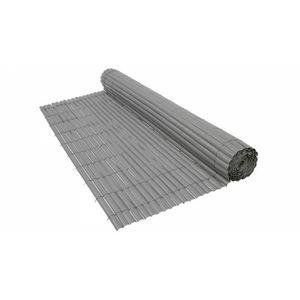 CLÔTURE - GRILLAGE Canisse PVC gris 900 g/m² Gris 1,5 x 5 mètres