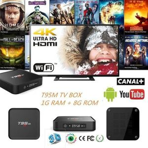 BOX MULTIMEDIA KIN 1G+8G T95M TV BOX WiFi Smart 4K IPTV 1080P Aml