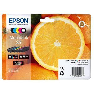 CARTOUCHE IMPRIMANTE Epson N°33 Orange Cartouche d'Encre d'Origine Clar