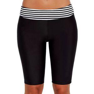 MAILLOT DE BAIN Femmes Sport Sunscreen taille haute à rayures Bas