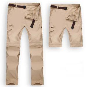 PANTALON - SHORT DE MONTAGNE Hommes rapides Pantalons de randonnée imperméables