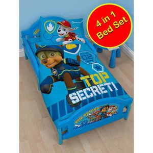 HOUSSE DE COUETTE Paw Patrol Spy Ensemble de literie junior 4 en 1