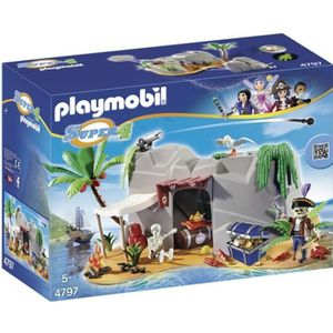 UNIVERS MINIATURE PLAYMOBIL 4797 Super 4 Caverne Des Pirates ile aux