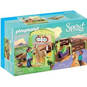 FIGURINE - PERSONNAGE PLAYMOBIL 9479 - Spirit - Apo et Chica Linda avec