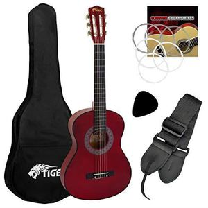 GUITARE Tiger CLG4-RD Guitare Classique 3-4 Rouge CLG4-RD