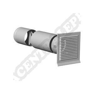 VMC - ACCESSOIRES VMC Prise d'air en facade (grille + manchon télescopiq