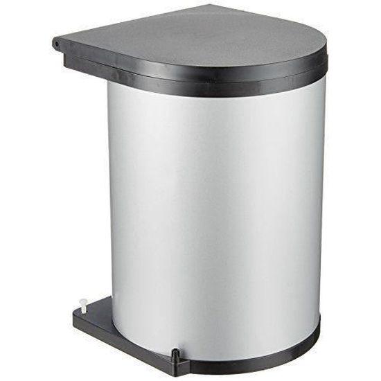 HENG 10L 25 x 20 x 27cm Poubelle en Cuir Imperm/éable Corbeille a Papiers pour la Bureau Cuisine Salon
