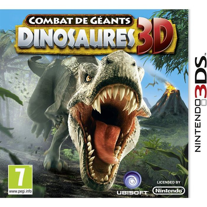 combats de geants dinosaures 3d jeu console 3ds achat vente jeu 3ds combats geants. Black Bedroom Furniture Sets. Home Design Ideas