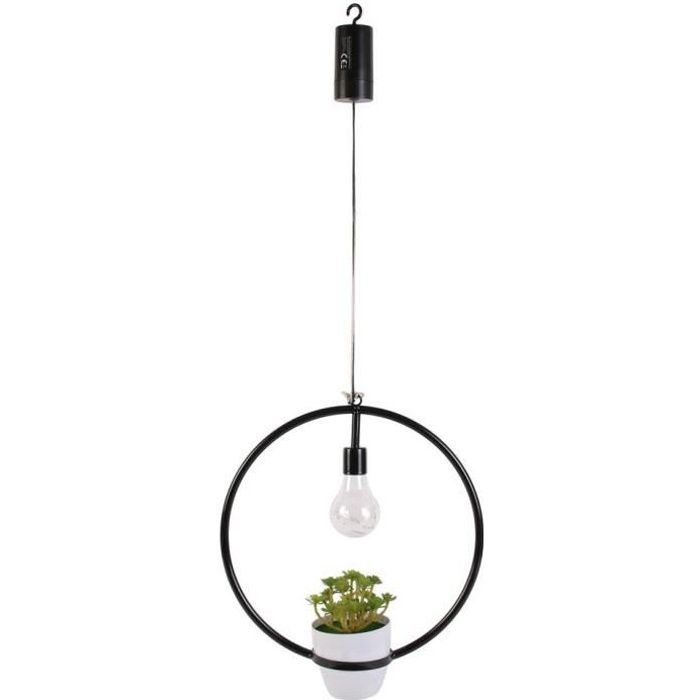 THE HOME DECO FACTORY Suspension Decorative Cercle Led Plante Garden