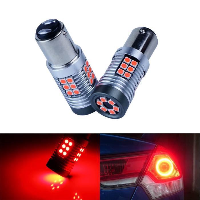 2x BAY15d 1157 P21/5W 30 SMD LED Ampoules Rouge Feux de Frein Arrière Stop Lumière Lampe