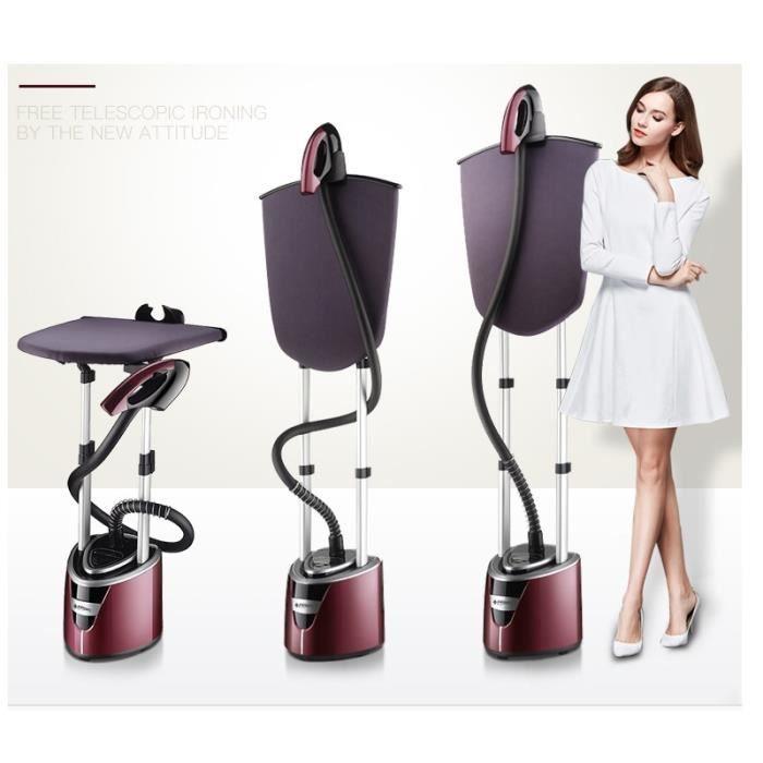 2000w Vertical vêtement Steamers poche électrique fer 10 vitesses thermostat céramique tête Support avec table à repasser