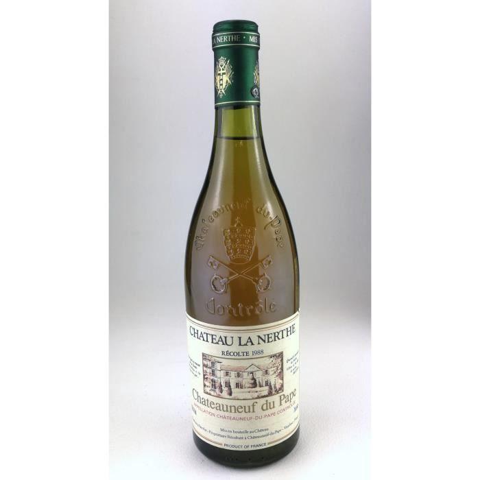1988 - Chateau la Nerthe blanc - Chateauneuf du Pape (Bouteille 01)