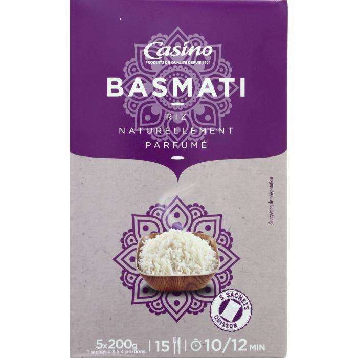 CASINO Riz Basmati parfumé - 5X200G