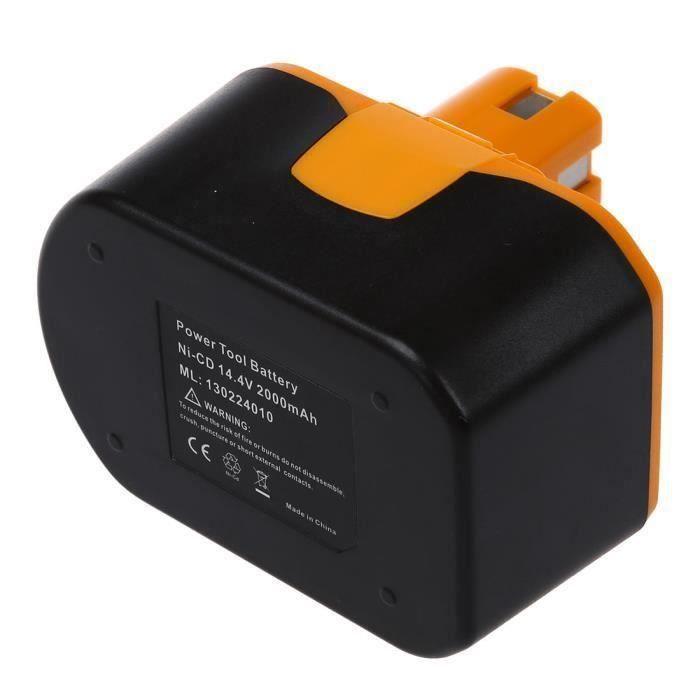 l'Outil d'Alimentation Batterie de remplacement pour RYOBI 14,4V, RY62, RY6200, RY6201, RY6202, 130224010, etc noir et jaune Aa25497