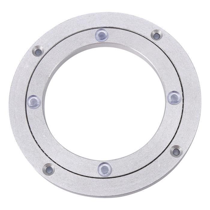 HURRISE Roulement de table Table à manger ronde de plateau tournant de plaque tournante d'alliage d'aluminium résistant